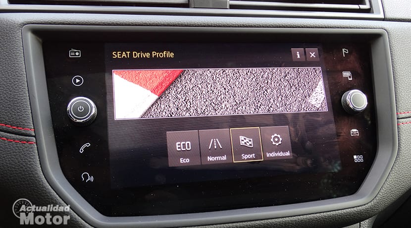 Prueba Seat Ibiza FR 1.6 TDI pantalla