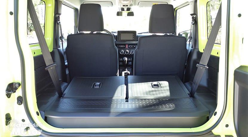 Prueba Suzuki Jimny maletero con asientos abatidos