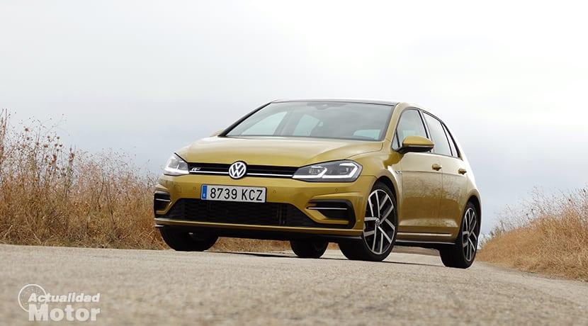 Prueba Volkswagen Golf TSI 150 perfil frontal