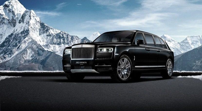 Frontal del Rolls-Royce Cullinan limusina blindada
