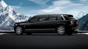 Trasera del Rolls-Royce Cullinan limusina blindada