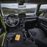 Interior del Suzuki Jimny