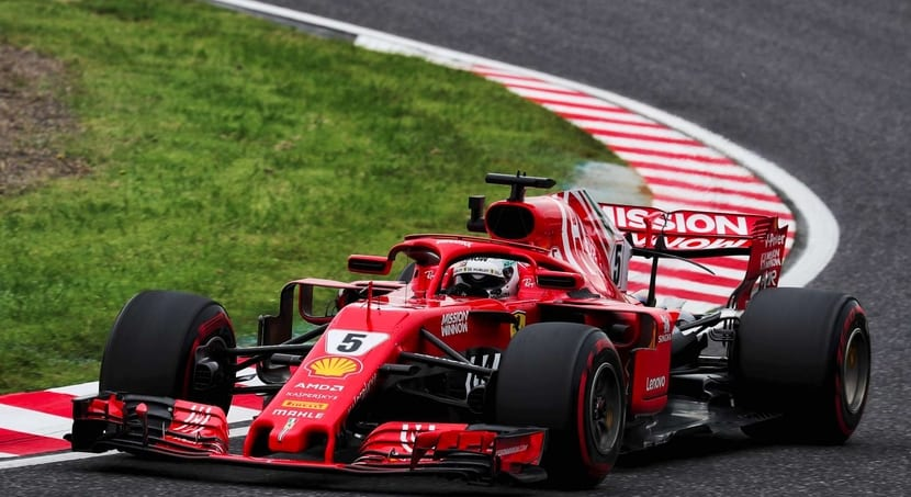 Ferrari decoración Japón F1 2018