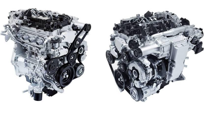 Vista superior de un motor diésel
