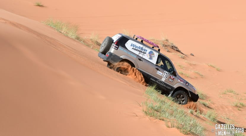 Rally gazelles & men 2018 in sand 3