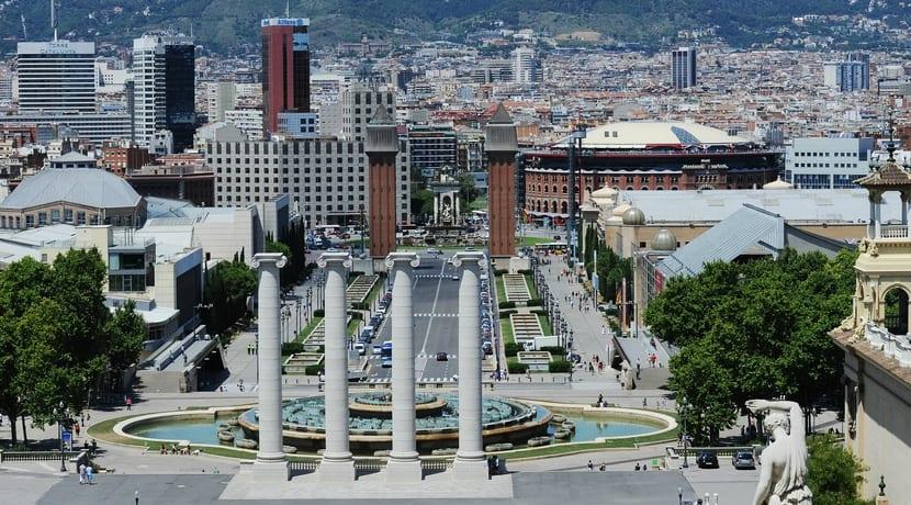 Vistas de la Fira de Barcelona Plaza España