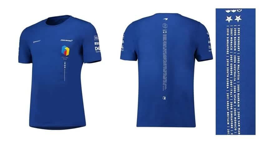 Camiseta conmemorativa Fernando Alonso