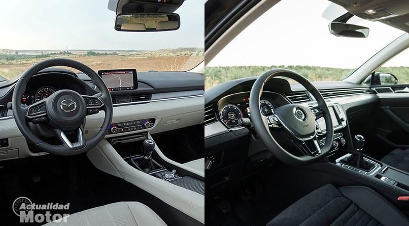 Comparativa Mazda 6 Vs Volkswagen Passat Interiores