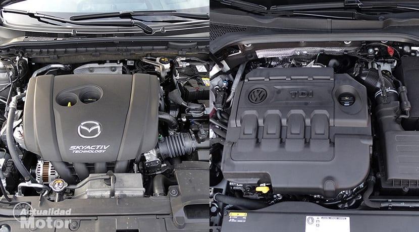 Comparativa Mazda6 Vs Volkswagen Passat motores