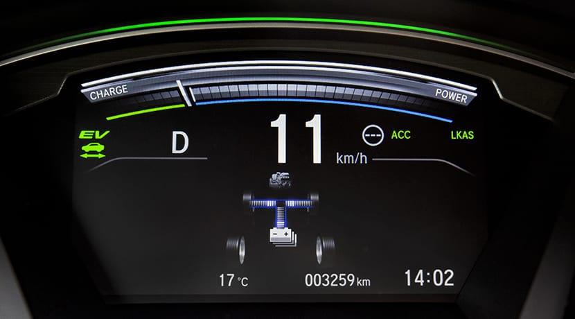 Cuadro de instrumentos del Honda CR-V Hybrid