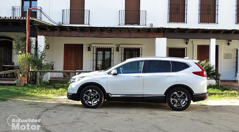 Prueba Honda CR-V Hybrid lateral