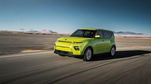 Kia Soul EV dinámica delantera