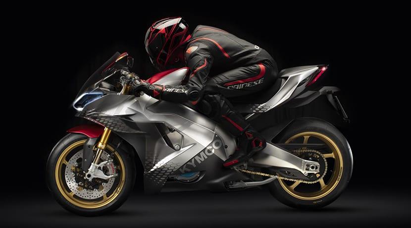 Kymco SuperNEX moto superdeportiva eléctrica lateral