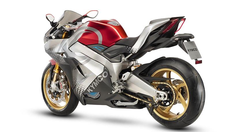 Kymco SuperNEX moto superdeportiva eléctrica perfil trasero