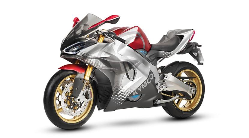 Kymco SuperNEX moto superdeportiva eléctrica perfil delantero