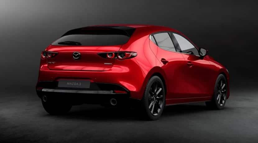 Trasera del Mazda 3 2019 cuarta generación