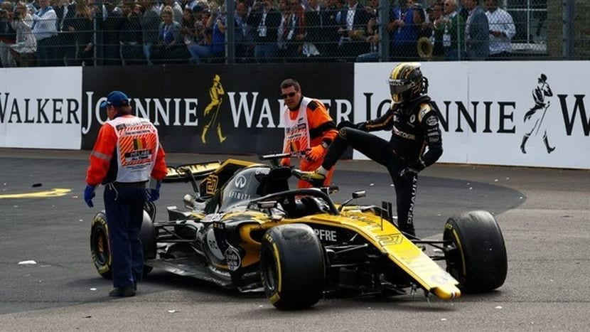 Accidente de Hulkenberg en Barasil 2018