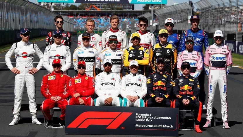 Grupo de pilotos F1 2018