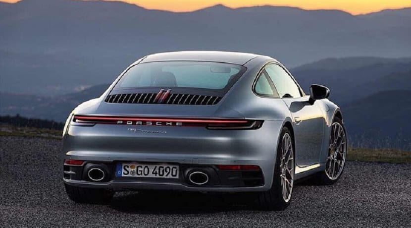 Porsche 911 992 filtrado trasera
