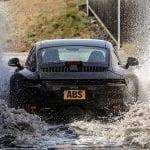 Porsche 911 en desarrollo prueba en agua