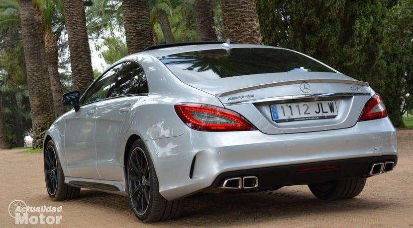 Prueba Mercedes CLS 63 AMG perfil trasero