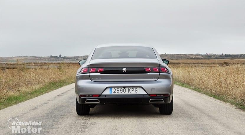 Prueba Peugeot 508 diésel 130 GT Line parte trasera