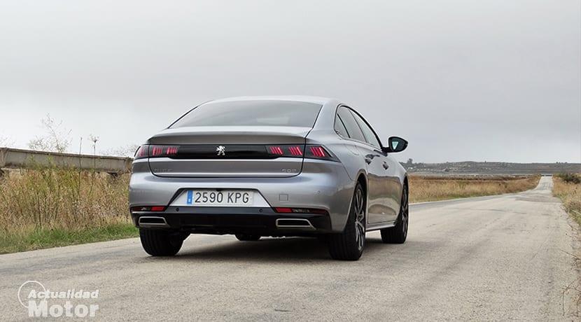 Prueba Peugeot 508 parte trasera