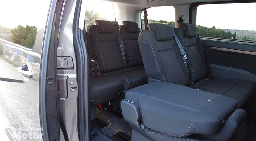 Prueba Toyota Proace Verso plazas traseras