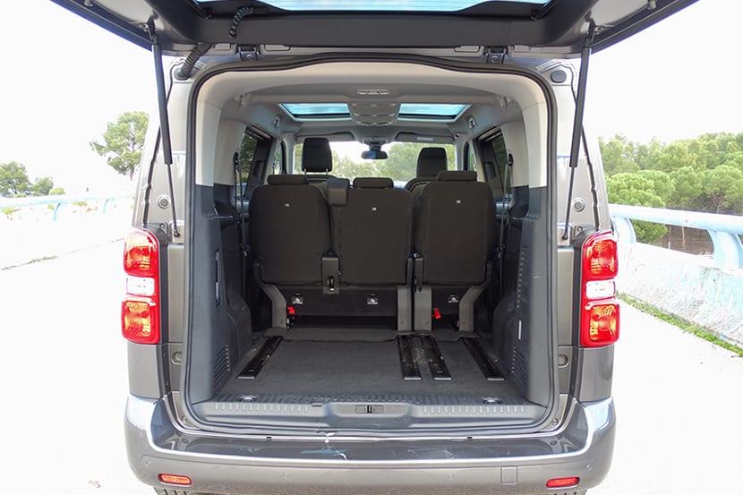 Prueba Toyota Proace Verso capacidad maletero