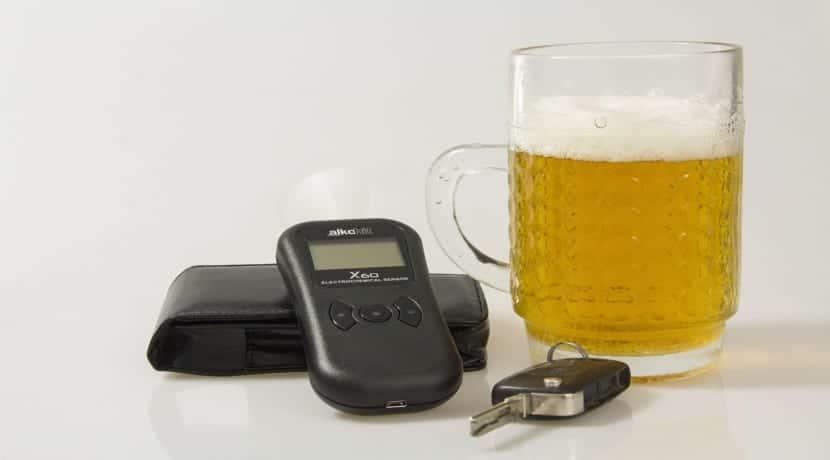 alcohol y etilómetro