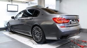 BMW M760Li G-Power en el banco de potencia
