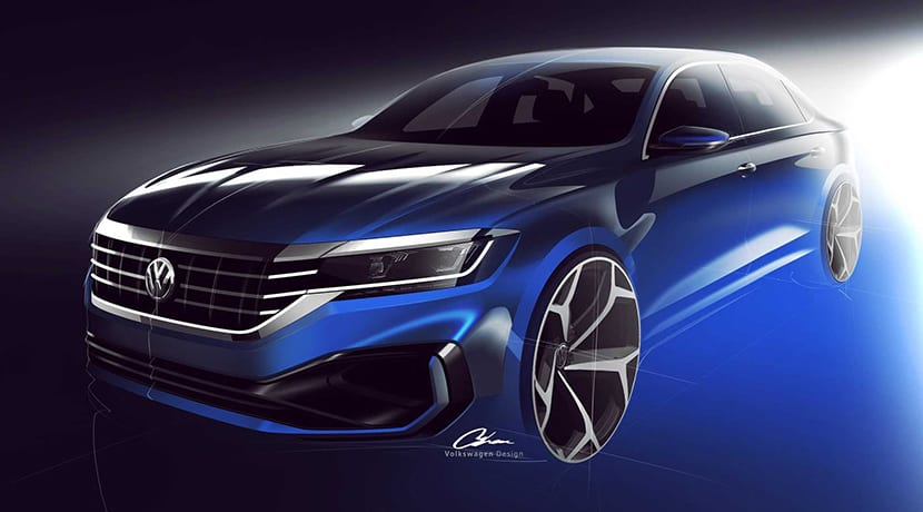 Teaser boceto Volkswagen Passat 2019