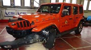 El Jeep Wrangler obtiene malos resultados en los test Euro NCAP