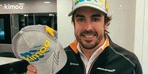Alonso con su gorra de Kimoa