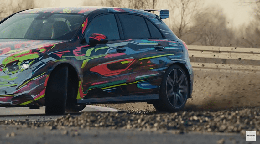 Vídeo teaser del Mercedes-AMG A45 drift
