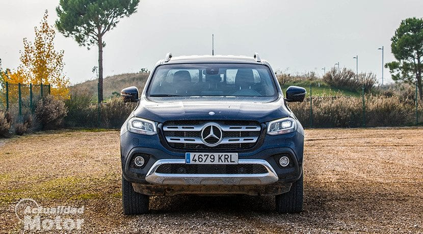 Frontal del Mercedes Clase X