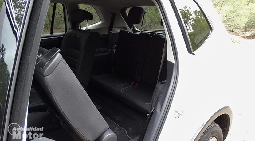 Tercera fila de asientos del Volkswagen Tiguan Allspace