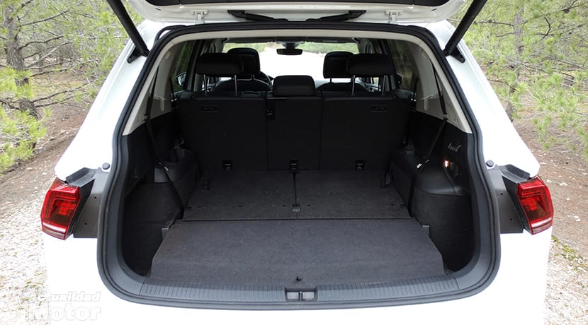Maletero con 5 plazas del Volkswagen Tiguan Allspace