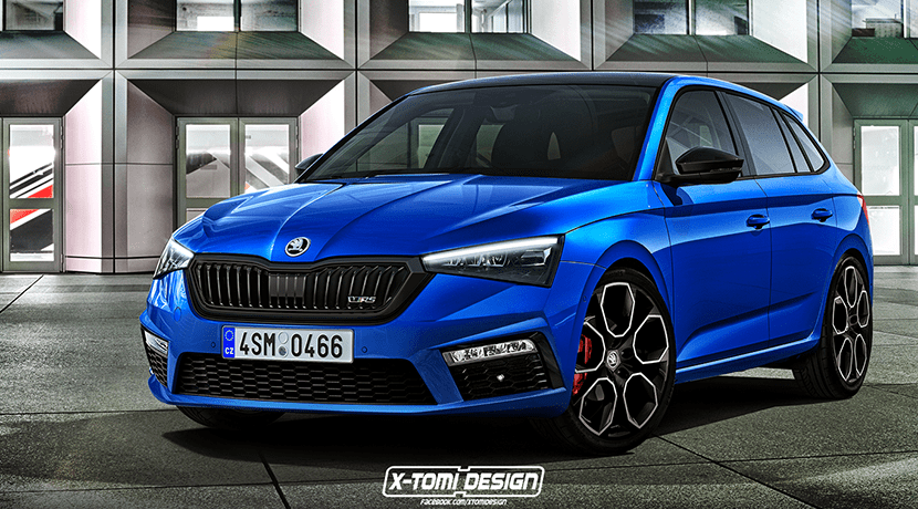 Render de un Skoda Scala RS