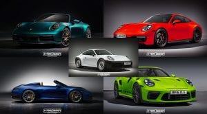 Recreaciones del Porsche 911 992