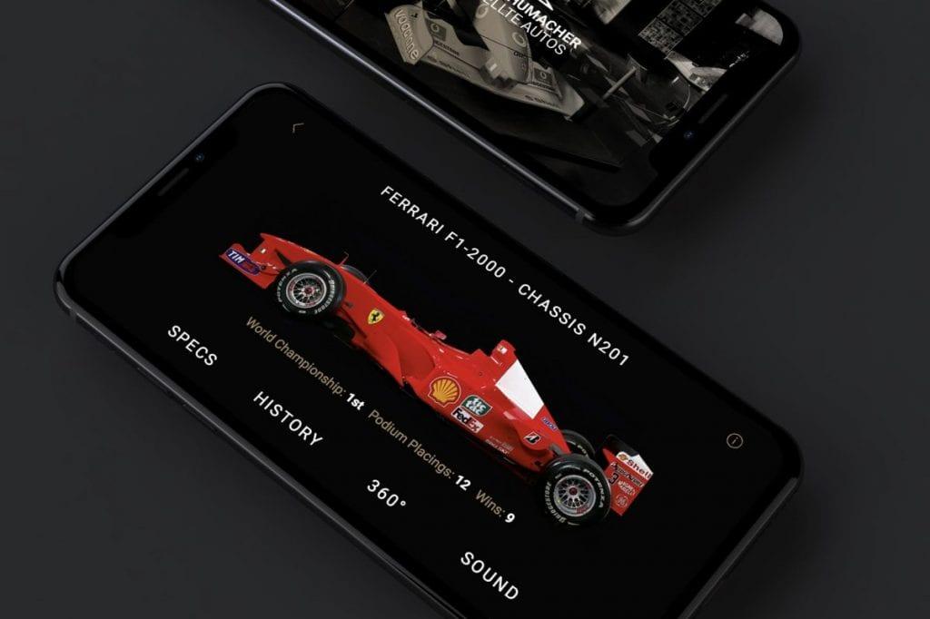 app Schumacher interfaz
