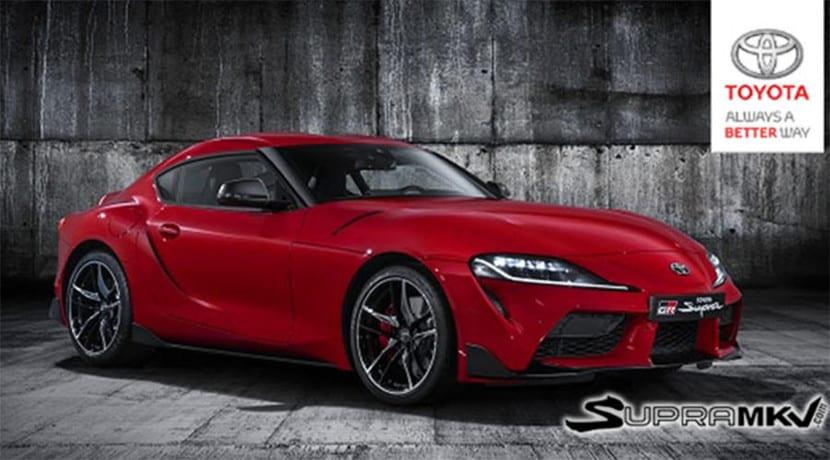Frontal del Toyota Supra 2019 filtrado