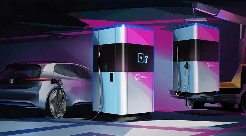 Estaciones de carga Volkswagen de 360 kWh