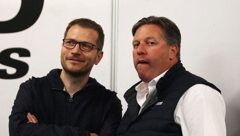 Andreas Seidl y Zak Brown