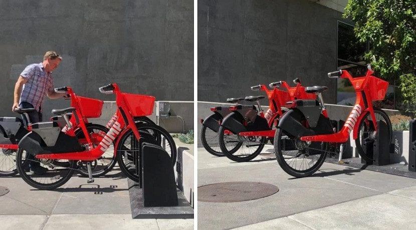 Cargadores de las bicicletas Jump de Uber