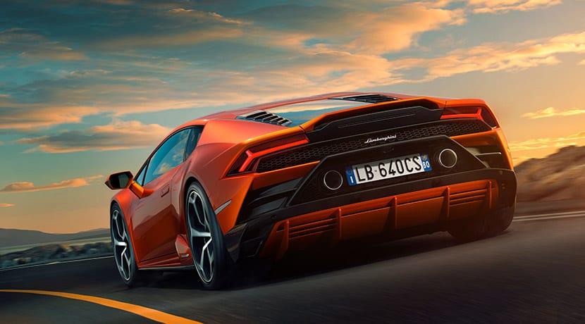 Lamborghini Aventador EVO trasera
