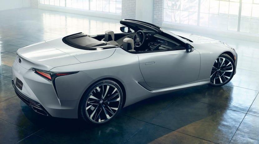 Lexus LC descapotable sin techo