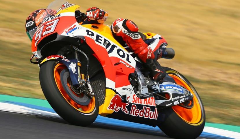 Marc Marquez en la Honda-Repsol