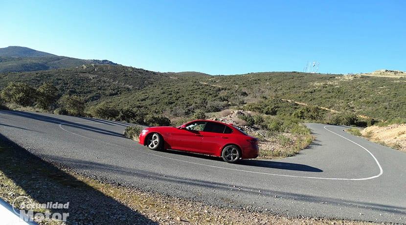 Prueba Alfa Romeo Giulia dinámica