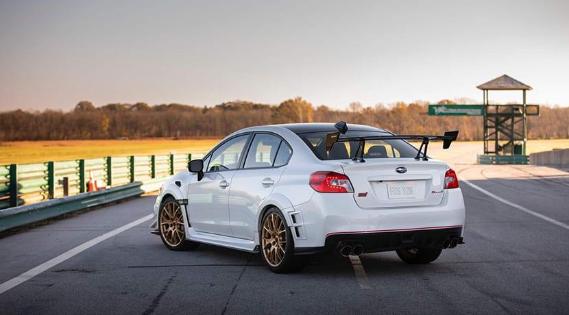 Subaru WRX STi S209 perfil trasero